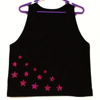 Tribal Top, Women Tank, Rainbow Stars Top in Peruvian fabric, Peruvian textile,Women's Tshirts, Women's Tops, Tank Top, Stars T shirt