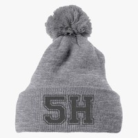 Fifth Harmony Embroidered Knit Pom Cap