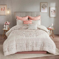 8pc Kaia Cotton Printed Reversible Comforter Set