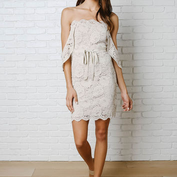 Sicily Strapless Lace Dress