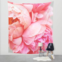 Peonies Forever Wall Tapestry by Ez Pudewa