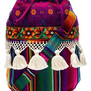 STELA 9 Elote Bucket Bag in Purple