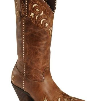 Durango Sassy Whipstitch Cowgirl Boots - Square Toe