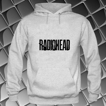 radio head logo Hoodies Hoodie Sweatshirt Sweater white and beauty variant color Unisex size