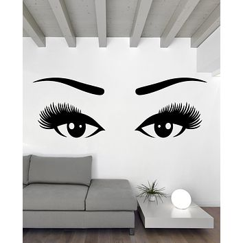 Large Vinyl Decal Wall Sticker Beautiful Eyes Long Eyelashes Sight Unique Gift (n641)