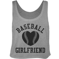 Trendy Baseball Girlfriend Crop Top