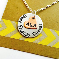Best Friends Necklace, Best Friends Forever, Best Friends Jewelry, Personalized Friends Necklace