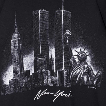 vintage twin towers new york shirt