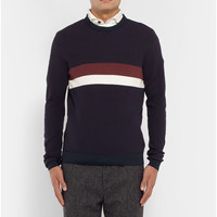 Folk - Striped Waffle-Knit Sweater | MR PORTER