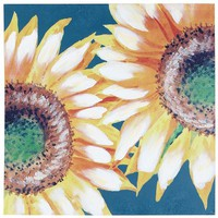 Vivid Sunflowers in Blue