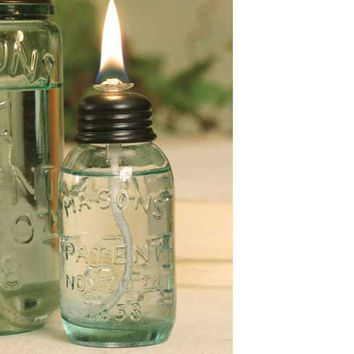 CTW Home Collection - Miniature Mason Jar Oil Lamp