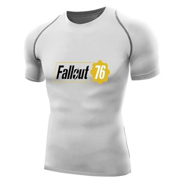 Game Fallout 76 T-shirt  Mens Compression Shirts Quick Dry T-shirt Fitness boys Bodybuilding men Base Layer vault fallout 1 2 3