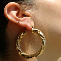 GRAND MOSSA HOOP EARRINGS