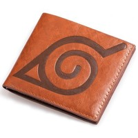 Naruto cosplay wallet,Uzumaki Naruto leather Cosplay wallet