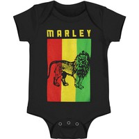 Bob Marley Boys' Flag Lion Bodysuit Black