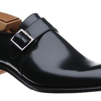 Wakeby Wolf Formal Monk Strap Leather Shoes
