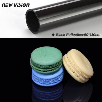 Black Reflection PVC Photo Photography Studio Lighting Backdrop Background Cloth 60cm*130cm