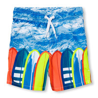 Baby And Toddler Boys Surfboard Graphic Swim Trunks | The Children's Place
