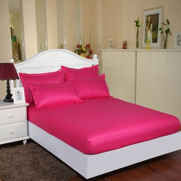 100% Cotton Luxury Hotel Bedding Set  Bedspread Mattress Bed Linen  Bed Sheet Size Bed Protective Case Household Products