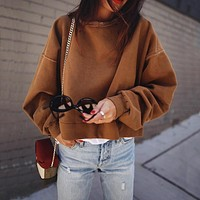 Women's Fashion Winter Hot Sale Batwing Sleeve Hoodies [132688478228]