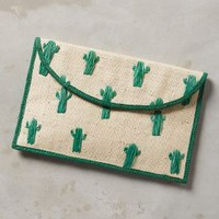 Kayu Cactus Envelope Clutch in Neutral Size: One Size Sneakers