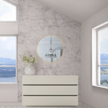 Grey and White Marble Wallpaper, Home and Business Wall Decor, Natural Interiors #FRAN