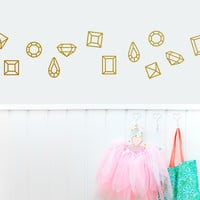 Lovely Diamonds Wall Decal