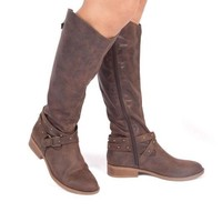 Thinking About You Western Boots In Dark Brown