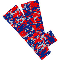 Red, Navy and Gray Digi Camo Arm Sleeve
