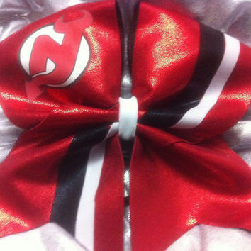 "3"" Cheer Bow- New Jersey devils"