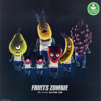 Takara Tomy Panda's Ana Gashapon Fruits Zombie Part 1 6 Mini Figure Set