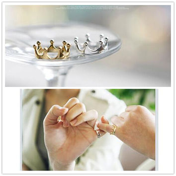 One Direction Hot Selling Bijoux 2017 New Fashion  Crown Finger Ring For Women Jewelry Wedding Accessories
