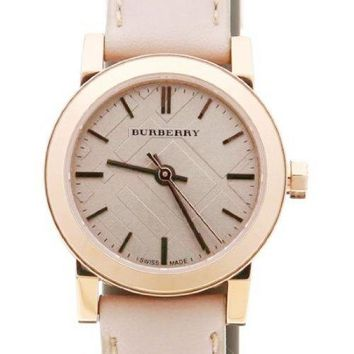 Burberry BU9210 Watch Heritage Ladies - Beige Dial Stainless Steel Case Quartz Movement