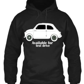 'Taxi Available For Test Drive' Funny Slogan Men Women Unisex Hoody Pullover Hooded Top (82) Black