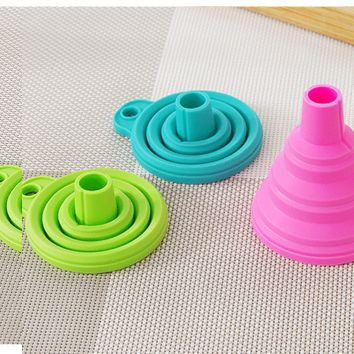 Silicone Collapsible Mini Filling Oil Funnel