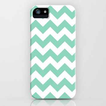 Mint Chevron iPhone & iPod Case by Desirée