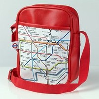 Underground Map Small Shoulder Bag - Red