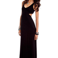 Modal Behavior Maxi Dress in Black :: tobi