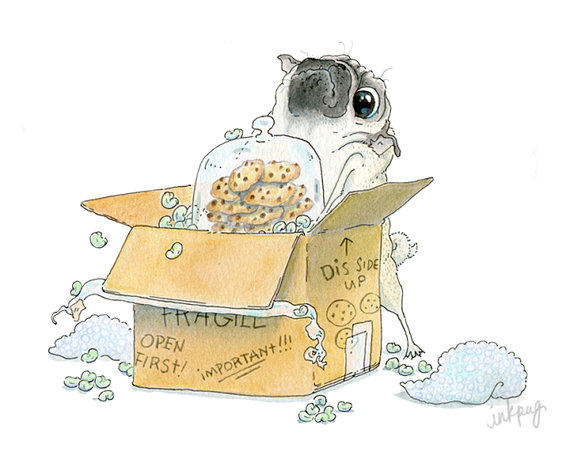 Moving day pug card housewarming card from inkpug our