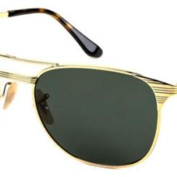BRAND NEW Ray-Ban Sunglasses RB3429M 001 55mm Gold Green Vintage AUTHENTIC