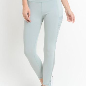 Mint Gray Mesh Leggings