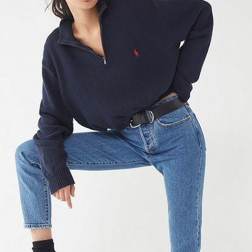 Urban Renewal Remade Zip-Up Polo Sweater | Urban Outfitters