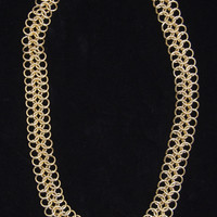 "Vintage ""AKI"" Gold Tone Necklace"