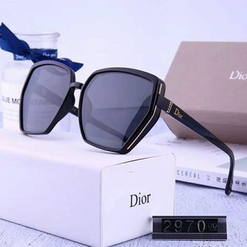 DIOR Women Casual Popular Summer Sun Shades Eyeglasses Glasses Sunglasses 2# Black