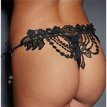 Sexy Lady Lace Underwear Panties Briefs Knickers Lingerie Thongs G-string ASD [9305753671]