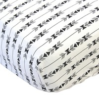 Black & White Arrow Aztec - Crib Sheet