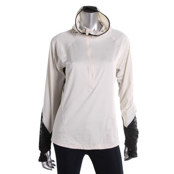 New Balance Womens Hooded Long Sleeve 1/4 Zip Pullover
