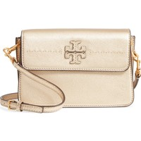 Tory Burch McGraw Metallic Leather Shoulder Bag | Nordstrom