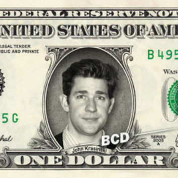 JOHN KRASINSKI on REAL Dollar Bill collectible Cash Money The Office