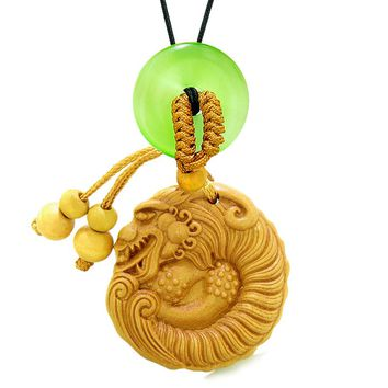 Magical Courage Dragon Car Charm Home Decor Green Simulated Cats Eye Donut Protection Powers Amulet